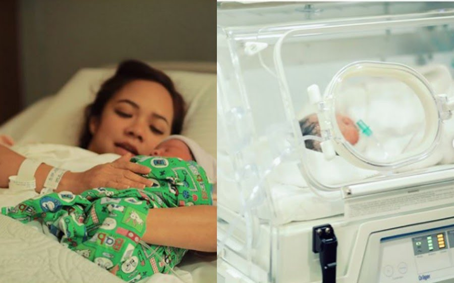 "Nora: -Saya melahirkan bayi lelaki pada 22 Februari 2018 seberat 2.97kg. NeyNey dijangka keluar pada 9 Mac tapi nampaknya dia nak lihat dunia lebih awal."" - Foto Instagram Nora Danish"