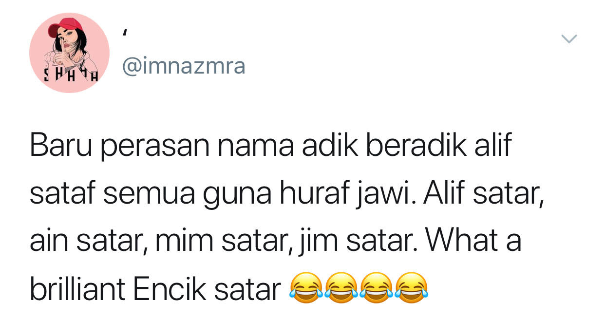 Alif, Mim, Ain & Jim... Uniknya nama adik beradik Satar ni!